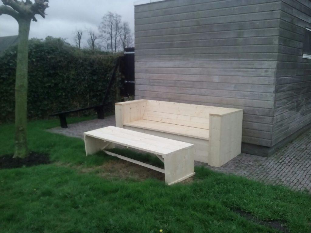 steigerhouten meubel set