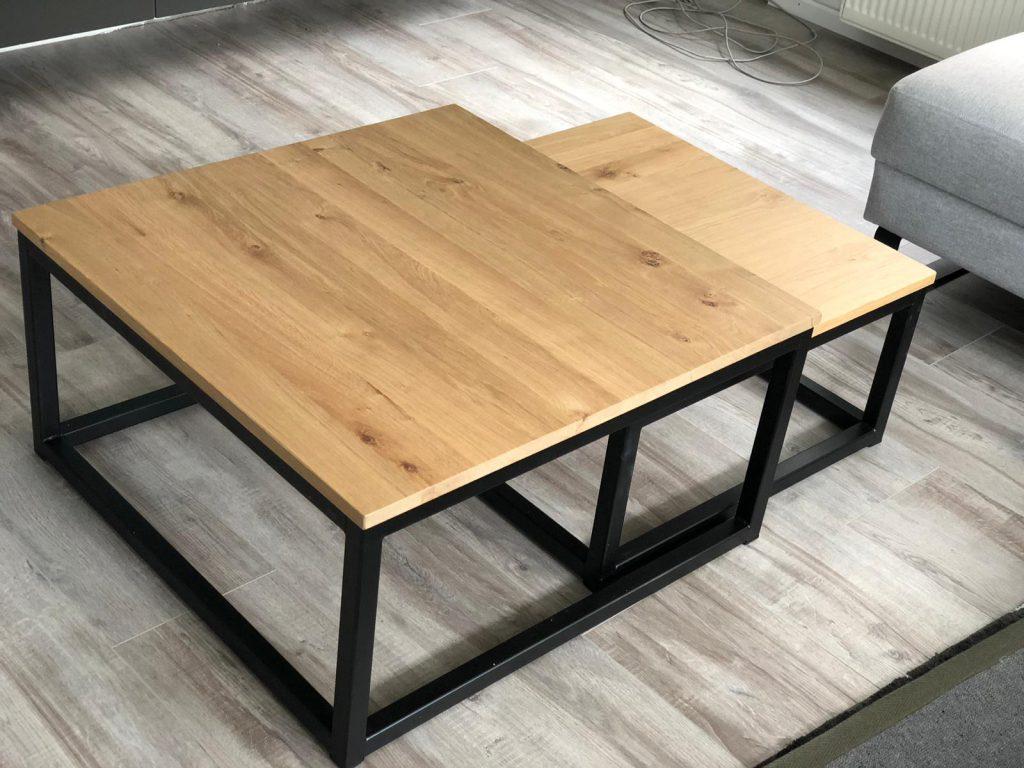salontafel met metalen frame